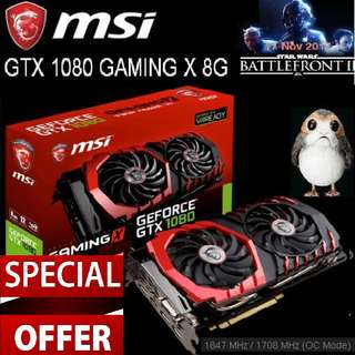 MSI GTX 1080 GAMING X 8G GeForce. Special Offer Till 6 Apr 18...Ends. ( Ex-Stock Today )