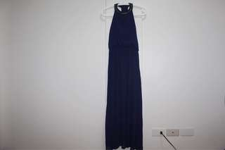 Blue maxi dress with studs