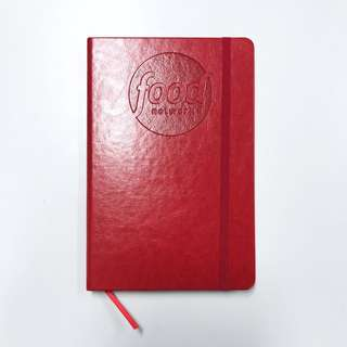 BNIP Food Channel Blank Pages A5 Red Leather Bound Planner Journal Notebook #Easter20