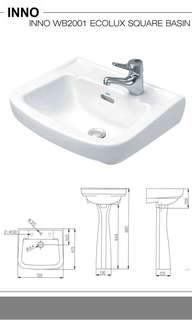 INNO ECOLUX SQUARE BASIN (READY STOCK)