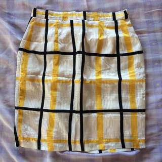 Office Skirt with Lines