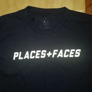 NAVY P+F Places + faces 3M tee