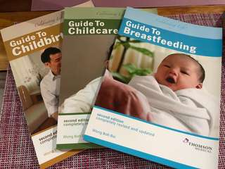 3 books on guides for babies by famous Wong Boh Boi