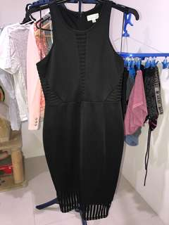 Ladies black midi dress