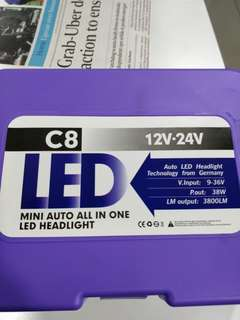 H4 LED headlight bulb- only used for 1 week. Price includes installation