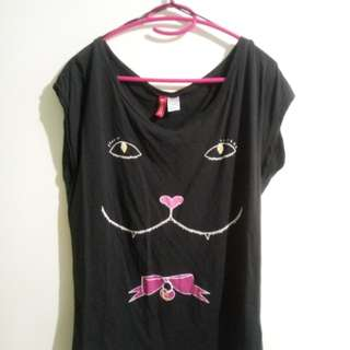 H&M Black Cat Top