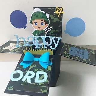 Happy ORD Handmade Pop Up Card