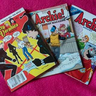 📚 Pre-Loved Archie Digest Magazine #196, #222, #243
