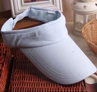 全新(NEW)粉藍色防矖太陽帽