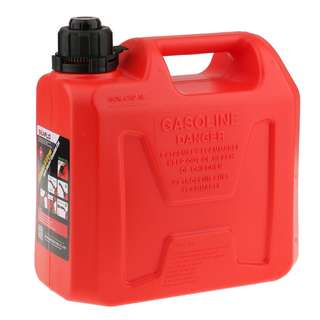 Auto Shut Off Gasoline Can Red Gas Fuel 2t Tank 5L