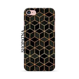 Tumblr Phone Case // Black Gold Geometric