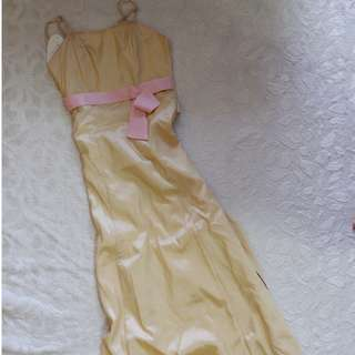 Organza Prom Dress in Nude Pink