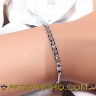 【Peggyhoho】全新18k白金39份真鑽石手鍊| 經典系列 | 送禮首選