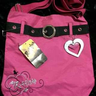 Ruffles Pink Sling Bag