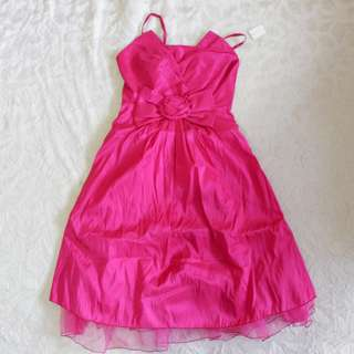 Organza Pink Mid-length Dress