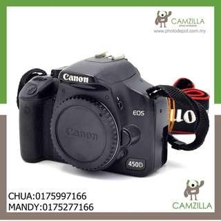 (USED)CANON 450D BODY SC:21K