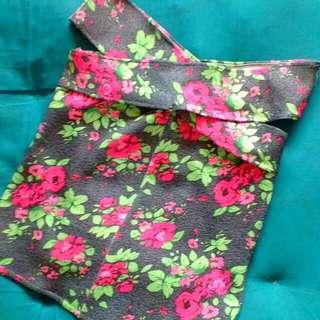 Off Shoulder Gray Floral Blouse