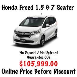 BRAND NEW Honda Freed 1.5 G 7 Seater