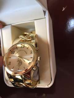 Authentic U.S Polo Assn Gold Watch