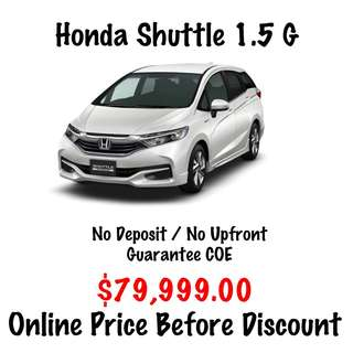 BRAND NEW Honda Shuttle 1.5 G