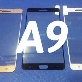 Samsung A9黑色 (black)全屏 鋼化玻璃保護貼
