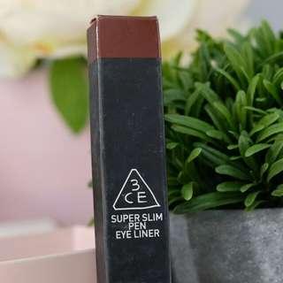3CE Super Slim Pen Eyeliner - Burgundy Brown