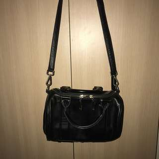 Black Sling Bag with studs