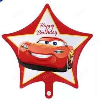 Cars star foil balloon