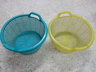 Plastic Basket/Bakul Plastik x 2
