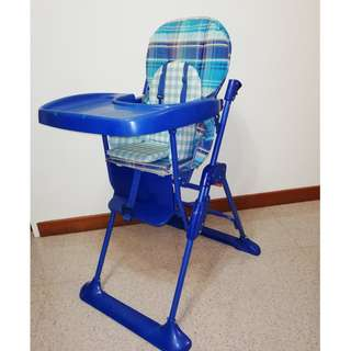 Mothercare Blue Checked High Chair