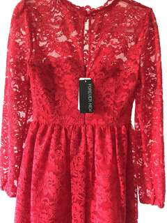 Brand new Forever New Red Lace Dress with price tag- Dedicated Fabric - Original price at $169.99