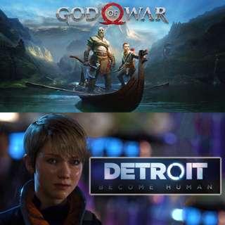 PS4 God of War Detroit: Become Human
