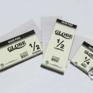 Globe Brand One Half Lengthwise,  Crosswise Pad Paper