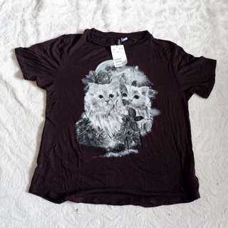 H&M Cat & Moon Top