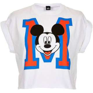 Topshop Mickey Mouse Cropped Top