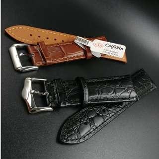 防過敏小牛皮錶帶 (16mm - 24mm)