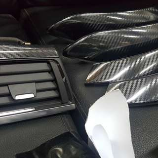 Bmw f series 5d carbon fiber wrapping