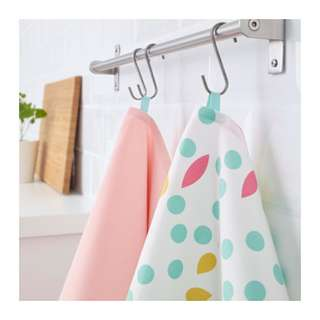 [IKEA] UDDIG Tea towel, light pink, dotted 2pieces