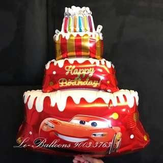 Cars cake balloon
