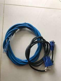 Vga and rj45 cable
