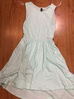 H&M blue sleeveless dress