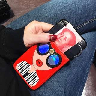 [PREORDER] Iphone 6/7/8/X casing + card holder