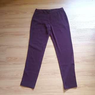 Maroon Cigarette Pants
