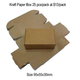 Nice Kraft brown box 95x55x30mm or 9.5x5.5x3.0cm 25 pieces per pack now available