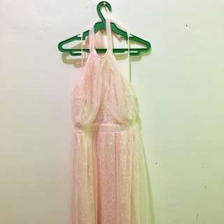 Pastel Pink Long Gown