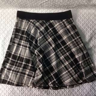 Stradivarius Plaid Skirt