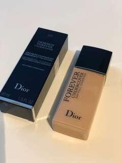 Dior粉底液forever undercover foundation #020