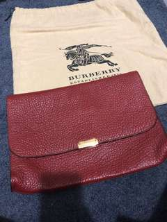 Burberry large clutch / pouch
