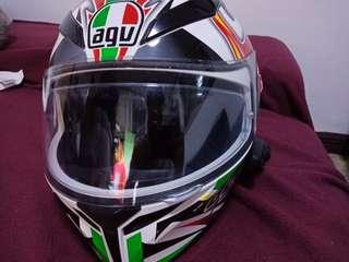Motorcycle shoes pants jacket agv helmet