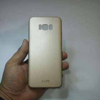 Samsung S8+ hardcase UME warna gold doff